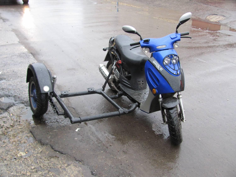 Как самому сделать прицеп к скутеру
